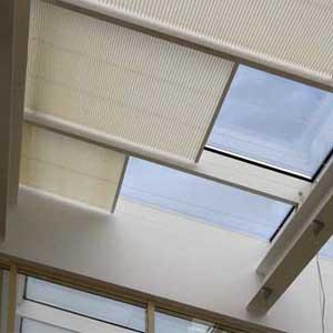 шторы плиссе потолочные